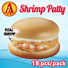 [AA] Whole Shrimp Patty Bulk Pack. 18 pcs. Quality Brand by CP.