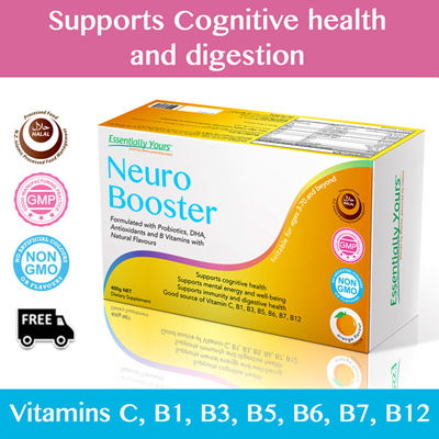 [FREE DELIVERY] Essentially Yours Neuro Booster  With Probiotics DHA  Antioxidants and B vitamins!