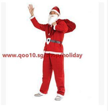 M73 adult male Christmas Santa Claus costume five sets of clothes props adult non-woven clothing per