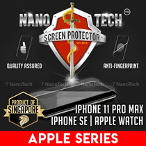 iPhone SE/11 Pro Max/Xs/XR/8 Plus/7/X/6/5/Apple Watch Screen Protector