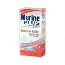 [USA]_Murine Plus For Dry Eyes, Redness Releif Fast Acting Formula for Normal Clear Vision, 0.5 fl o
