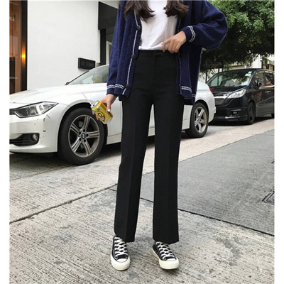 3536f03aec8b Autumn Korean women all-match Waist Wide Leg Pants loose slim straight jeans  casual pants