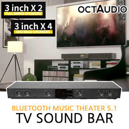 [OCTAUDIO] TV sound bar / Bluetooth Music Theater 5.1 / Three-dimensional DSP design