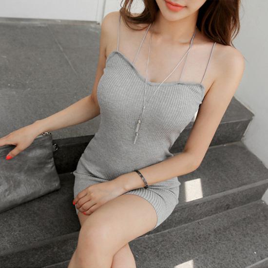 シーズ・コムインクンラインゴルジワンピースミニワンピーススリムワンピースゴルジワンピースけしたワンピース 綿ワンピース/ 韓国ファッション