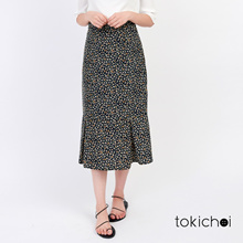 TOKICHOI - Floral Skirt with Frill Hem-171341