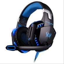 Deep Bass Game Headphone Stereo Surrounded Sound Over-Ear Gaming Headset Headband Earphone with Led Light for Computer PC Gamer