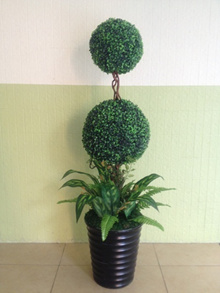 Plant Artificial Boxwood 4 feet/ flowers/ Decorations/ House warming/ Office decoration