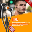 [LOWEST PRICES] JBL In-Ear Headphone T110 - Garansi 12 Bulan Resmi JBL Replacement Unit