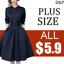 Clearance sale 5.9!!! Limited-time preferential !2018 NEW FASHION PLUS SIZE DRESS