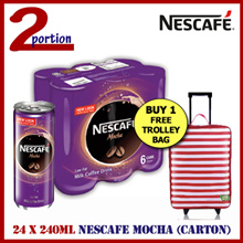 [CARTON DEAL] 24 x NESCAFE Milk Coffee Mocha Can 240ml