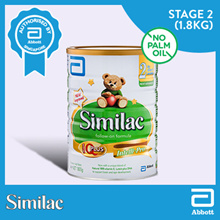 SIMILAC FOLLOW-ON 1.8KG*Stage 2*Now improved with Natural RRR-vitamin E Lutein DHA*Palm-Olein free