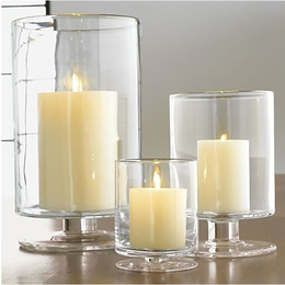 Original modern and simple crafts handmade glass candle holder clear glass flower decoration the F