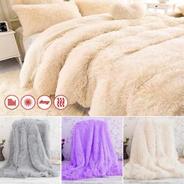 Super Soft Shaggy Faux Fur Blanket Ultra Plush Decorative Blanket 130*160cm/160*200cm 10 colors