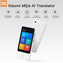 Xiaomi Mijia AI Voice Translator Recorder 18 Languages 4.1 inch 6 Mic Online Camera Photo Translator