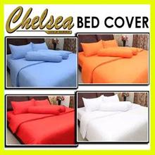 [ TURUN HARGA ]BED COVER MICROTEX MOTIF FULL COLOR POLOS ~ Warna Tidak Luntur (bed cover only tanpa sprei )