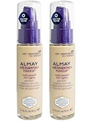 246b973f881 Almay Cosmetics Age Essentials Makeup Foundation 130 Light/Medium Neutral  SPF 15 (Pack of