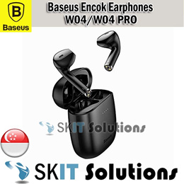 Baseus Encok W04 PRO Bluetooth True Wireless Earphones Earpiece EarBuds Hifi Mega Bass Waterproof