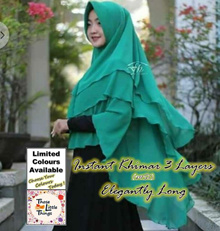 Instant Khimar Hijab 3 Layers MS1