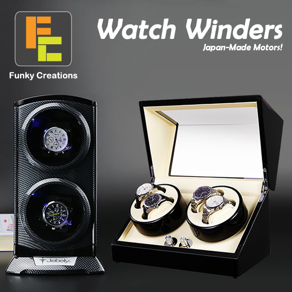 [Funky Creations] (Garansi 1 Tahun) Baterai / AC Power Dioperasikan otomatis Watch Winder / Jebely Deals for only Rp1.059.900 instead of Rp1.059.900