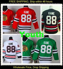 Youth Patrick Kane Jersey Cheap Chicago Blackhawks Jerseys Red White Black  Green Top Sales Kids   5b7e2513a