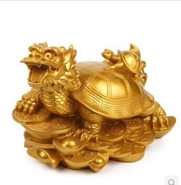 Resin mother dragon tortoise turtle ornaments leading anti-villain evil town house Fortune 0474