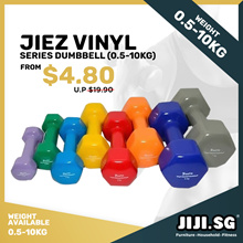 [Re-stocked] Vinyl Dumbbells 0.5kg - 4kg | Vinyl Anti Slip Coat | Rubber Coated  | 0.5kg - 10kg
