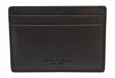purchase cheap 65ffd 43892 Coach Mens Money Clip Card Case in sport calf leather F75459 Black