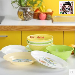 Special plastic microwave dish dishes dishwashing domestic high-temperature dishes suit sand ice ice