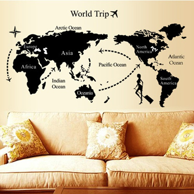 Qoo10 world map black and white paper cut decorative wall stickers world map black and white paper cut decorative wall stickers sticker living room bedroom classroom gumiabroncs Images