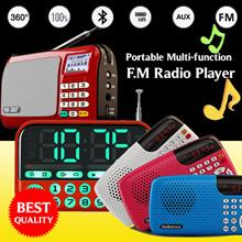 Multi-function Portable FM Radio ★ Large LCD Display ★ Clock Alarm ★ TF/USB