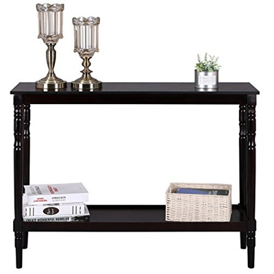 Peachy Songmics Wood Console Sofa Table And Bookshelf With Storage Shelves For Entryway Living Room Walnu Download Free Architecture Designs Rallybritishbridgeorg