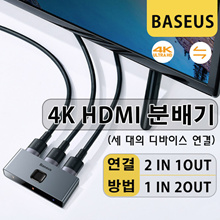 Bullet Air Shipping* 4K High Definition HDMI Bi-Directional Splitter / Connection of three devices