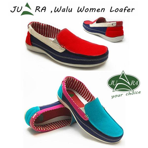 Juara walu loafer women sepatu wanita slip on loafer merah navy putih Deals for only Rp168.000 instead of Rp168.000