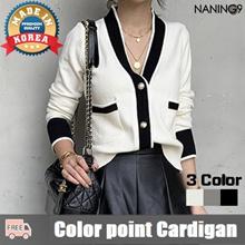 [NANING9] Korea best 3 Color women Point Cardigan / Free shipping
