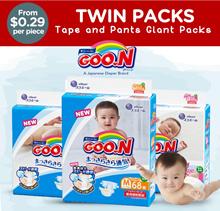 Goo.N Giant Twin Pack Diapers / TAPE NB'S'M'L / PANTS L'XL'XXL