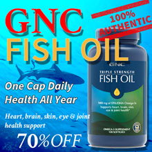 [10off60][GNC FISH OIL]Triple Strength Fish Oil/Mini 30/60/120/240 Softgels