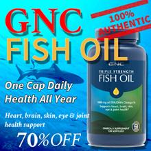 [10off60][GNC FISH OIL]Triple Strength Fish Oil/Mini 30/60/120/240 Softgels