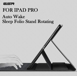 ESR Business PU Leather Auto Wake/Sleep Folio Stand Rotating Case for iPad Pro 12.9 inch
