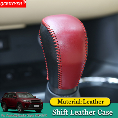car styling diy car automatic transmission shift leather case auto  accessories toyota highlander