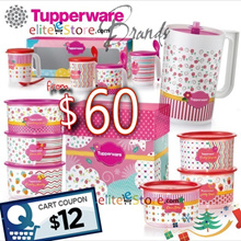 TUPPERWARE Lovely GIFT SET / Hello Kitty Bottle / One Touch Topper Mugs Pitcher Limited Edition