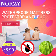 Fitted Waterproof Bedsheet/Bamboo Fiber/Anti Bacteria Mite/Mattress Protector Cover Topper/baby