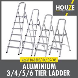 Lightweight Aluminium Ladder 3 - 6 Tier ♦ Foldable ♦ Rust Resistant  ♦ Compact ♦ Durable