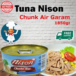 Tuna Nison Chunk Air Garam 185gr ( Free Shipping Jabodetabek )