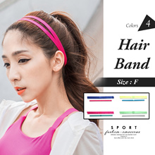 OB DESIGN ★ OBDESIGN ★ ORANGEBEAR ★ DOUBLE BARS SPORTS HAIR BAND 2PCS ★ 4 COLORS