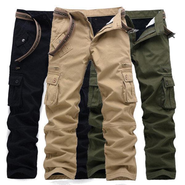 Qoo10 - Thick Loose Polar Fleece Lined Cargo Pants Mens Casual ... 3d8ae20d16