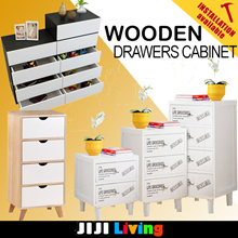 WOODEN Storage Drawers Cabinet! ★Furniture | Organizer | Bookshelf | Bedside Table | Storage