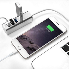 Seenda Aluminum 4 port usb 3.0 super speed hub  for thumbdrive bluetooth reaceiver iphone 6s plus sa