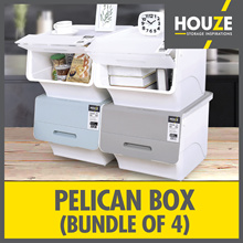 ONLINE EXCLUSIVE ♦ 10th Restock ♦ Bundle Of 4 35L Pelican Box ♦ Stackable Design ♦ Front Opening ♦