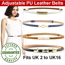 High Quality Adjustable Belt (No more hole punches) | Leather Belt | Ladies Fashion Belt | Thin Belt