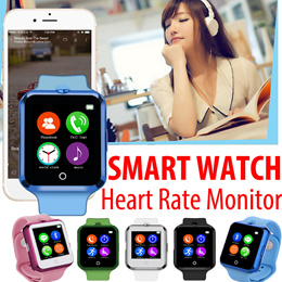 HOT SALE Heart Rate Monitor Smart Bluetooth Watch C88 Sync Notifier Support SIM TF Card Camera Smartwatch for iPhone IOS Android Phones